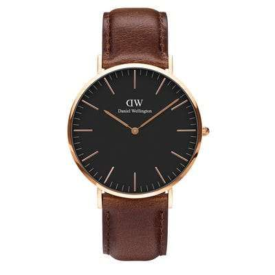 DANIEL WELLINGTON Classic Bristol Rose Gold 36mm Black